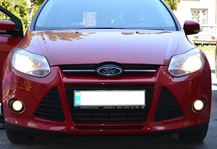 Установка ксенона на автомобиль Ford Focus 3