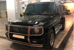 Замена штатной магнитолы, установка камеры заднего вида и шумовиброизоляция дверей в автомобиле Mercedes-Benz G 55 AMG
