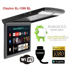 Монитор потолочный Clayton SL-1588 BL Android black