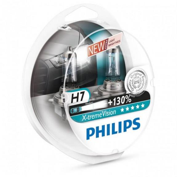Галогенная лампа Philips H7 X-treme Vision +130% 12972XV+S2